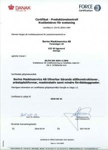 Certifikat ISO 3834