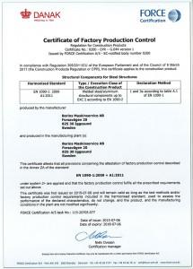 Certifikat EN 1090