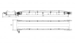 Rullställstransportör TR-1000 måttskiss