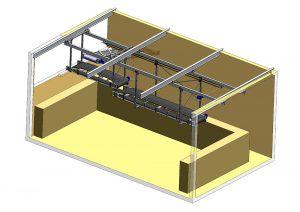 Rullställstransportör TR-1000 anläggningsmodell